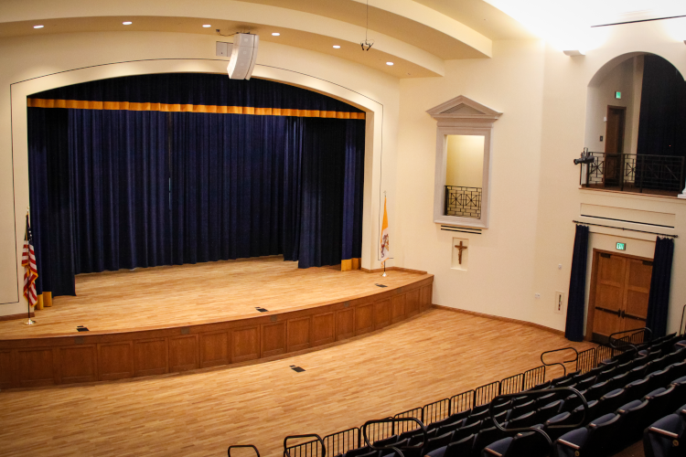 The Fritz B. Burns Auditorium in St. Cecilia Hall