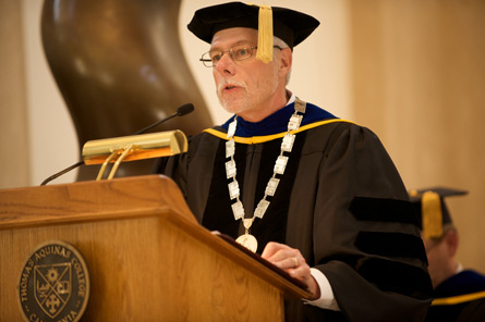 President McLean at his inauguration