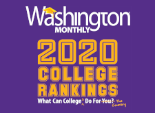 Washington Monthly 2020 College Guide