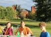 College Celebrates <br>New Year with Family Picnics on Both Coasts