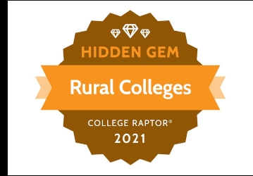 College Raptor Best Hidden Gem Rural College badge 2021