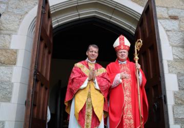Bishop McManus with Fr. Markey