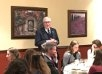 President McLean Salutes <br>New England-Bound Tutors, Students at Dinner
