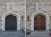Before and After: <br>New Doors on New England Chapel!