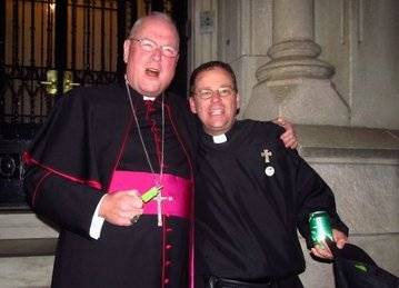 Fr. Higgins with Cardinal Dolan