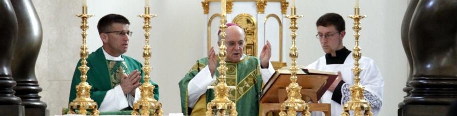 Archbishop Viganò, Apostolic Nuncio Emeritus to U.S., Visits College