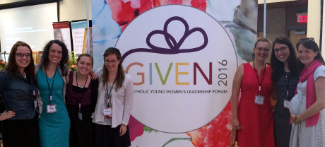 Student and Alumnae at the GIVEN Forum