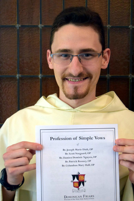 Br. Patrick Rooney ('15) (Photo: Western Dominican Novitiate)