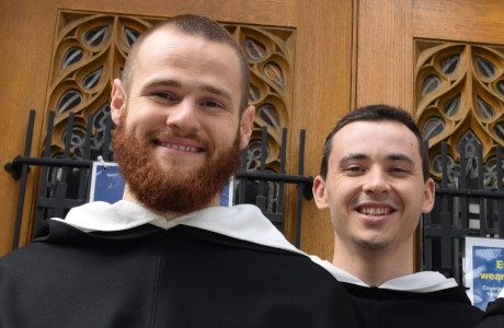 Br. Michael Thomas Cain ('18) and Br. Kevin Peter Cantu ('15)