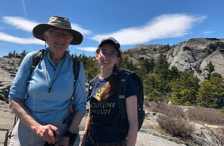 Dr. Carol Day and Andrea McCann ('13) on Mt. Monadnock