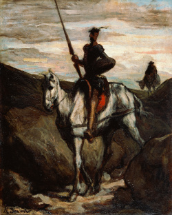 Don Quixote in the Mountains, Honoré Daumier (1808–1879)