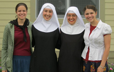 at the investiture of Sr. Sophia Eid ('08)