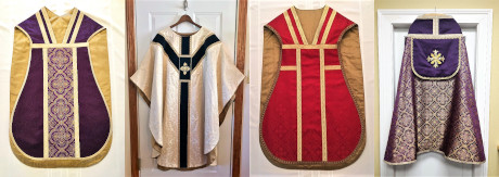 Some of Mrs. Froula's vestments