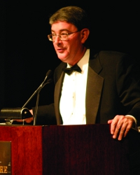 George Weigel speaks at the College's 35th anniversary gala in 2006.