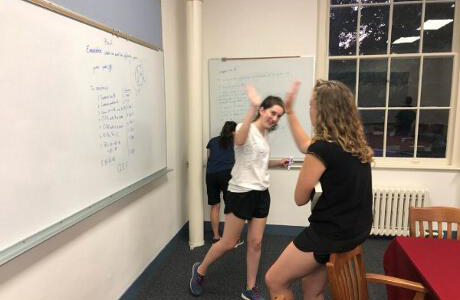 Students practice Euclidean propositions