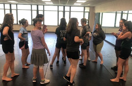 Students choreograph a dance routine