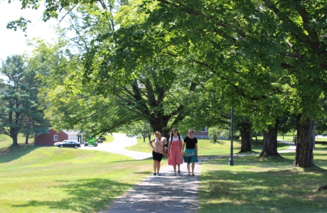 Students on  walkway