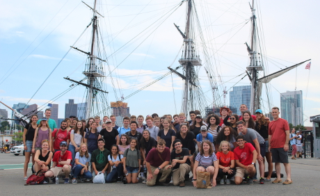 Students at USS Constitution