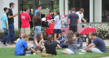Wednesday night barbeque outside St. Joseph Commons