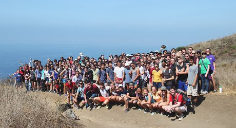Group photo from the midpoint on the Chumash Trail