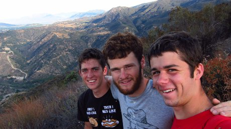 Greg, Thomas, and Isaac on their hike