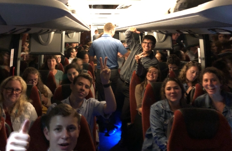 The bus ride home from Tanglewood
