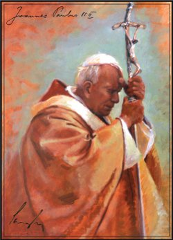 """Bl. John Paul II,"" by James Langley ('85)"