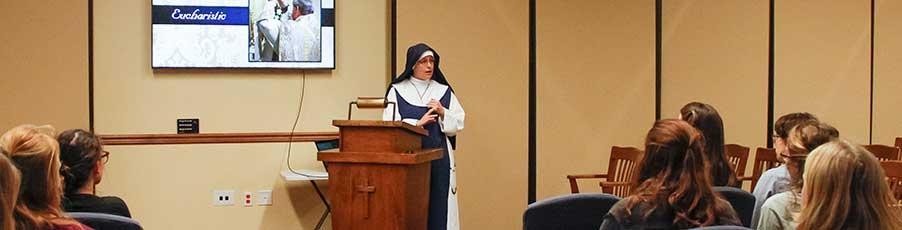 A Visit  from the Marian Sisters of Santa Rosa