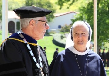 President McLean and Mother Agnes Mary Donovan, SV, Commencement 2017