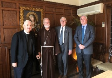 Fr. Lamb, Cardinal O'Malley, Michael McLean, and Paul O'Reilly (2018)