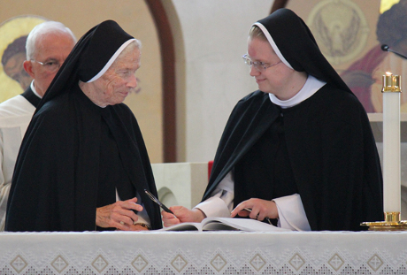 other M. Assumpta Long, O.P. and Sr. Maria Jerome (Alma '11) Poelman, O.P.