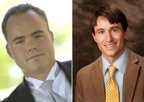 Dr. Matthew J. Peterson ('01) and Dr. S. Adam Seagrave ('05)