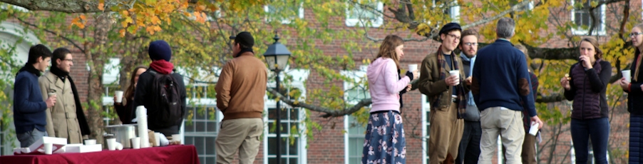 Students Celebrate Fall in New England with Scarves, Cider, and Donuts