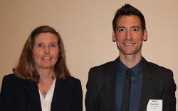 Katie Short ('80) with David Daleiden of the Center for Medical Progress