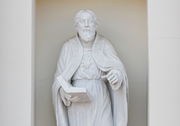 Statue of St. Augustine from Our Lady of the Most Holy Trinity Chapel
