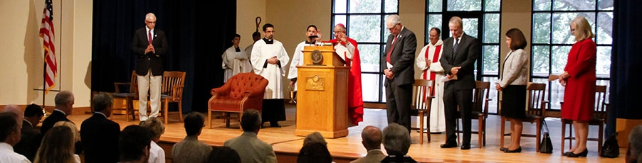 Photos: Archbishop Gomez Dedicates College's Newest Building, St. Cecilia Hall