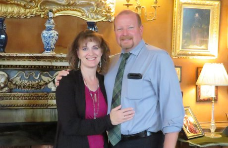 Michael Swanson ('93), city attorney of Klamath Falls, Oregon, with his wife, Sharon