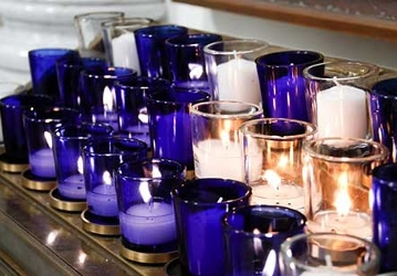 Votive Candles -- lighted