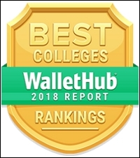WalletHub Best Colleges badge