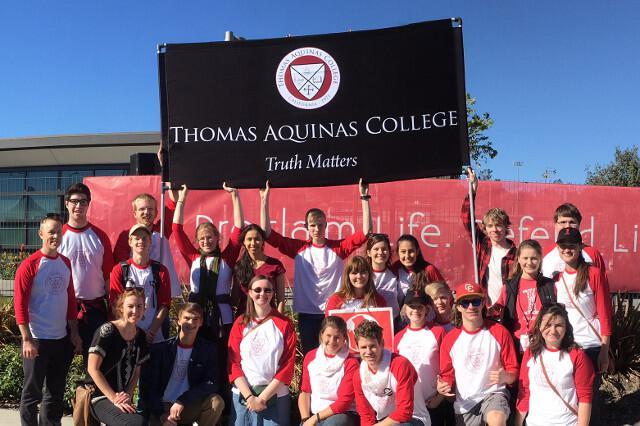 The Thomas Aquinas College contingent