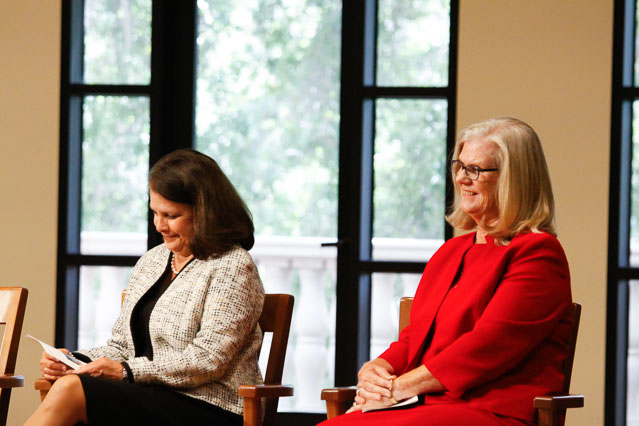 Maureen Rawlinson and Cheryl Robinson, trustees of the Fritz B. Burns Foundation