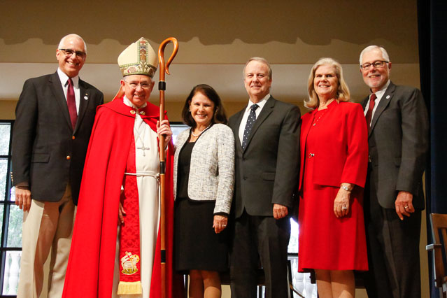 Mr. Turicchi, Archbishop Gomez, Mrs. and Mr. Rawlinson, Miss Robinson, and Dr. McLean