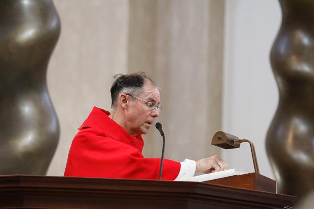 Head Chaplain Rev. Paul Raftery, O.P, proclaims the Gospel.