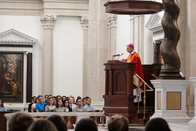 Bishop Daly delivers the homily.