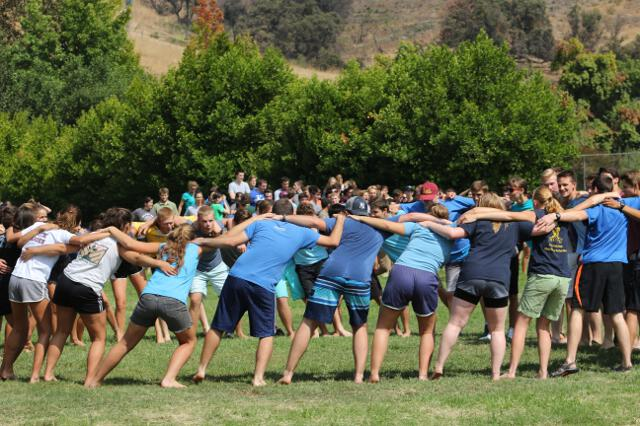 Students prepare for the tug-of-war
