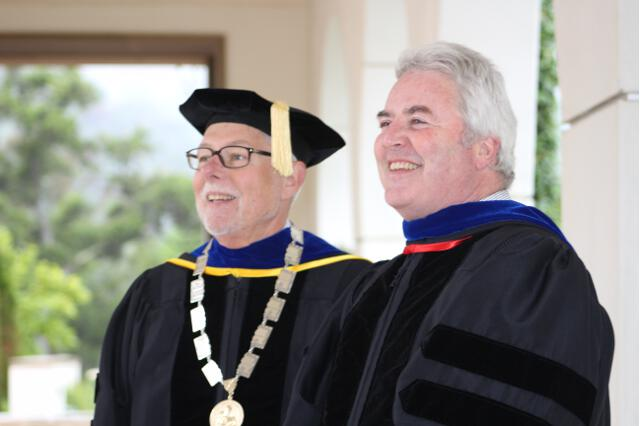 President Michael F. McLean and Vice President Paul J. O'Reilly, prior to the Baccalaureate Mass