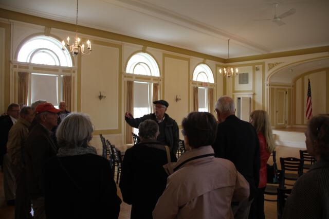 President McLean shows governors Olivia Music Hall