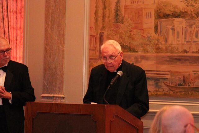 Fr. Buckley offers the benediction