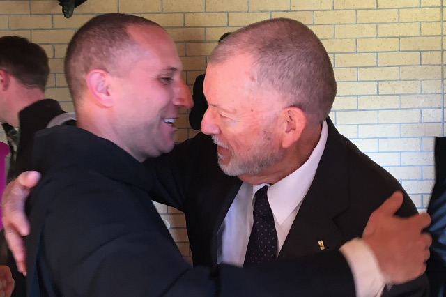 Fr. Hudson and and Frank King ('03)