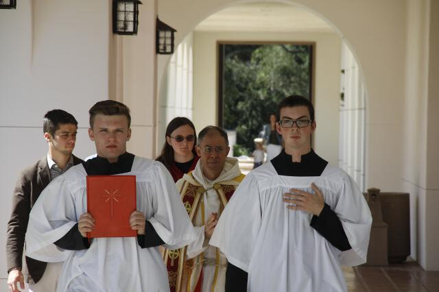 Students acolytes and Fr. Paul
